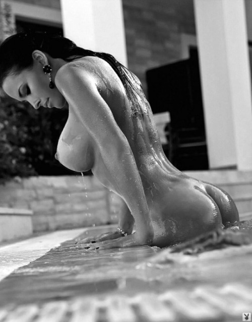 big tits black and white brunette nude wet